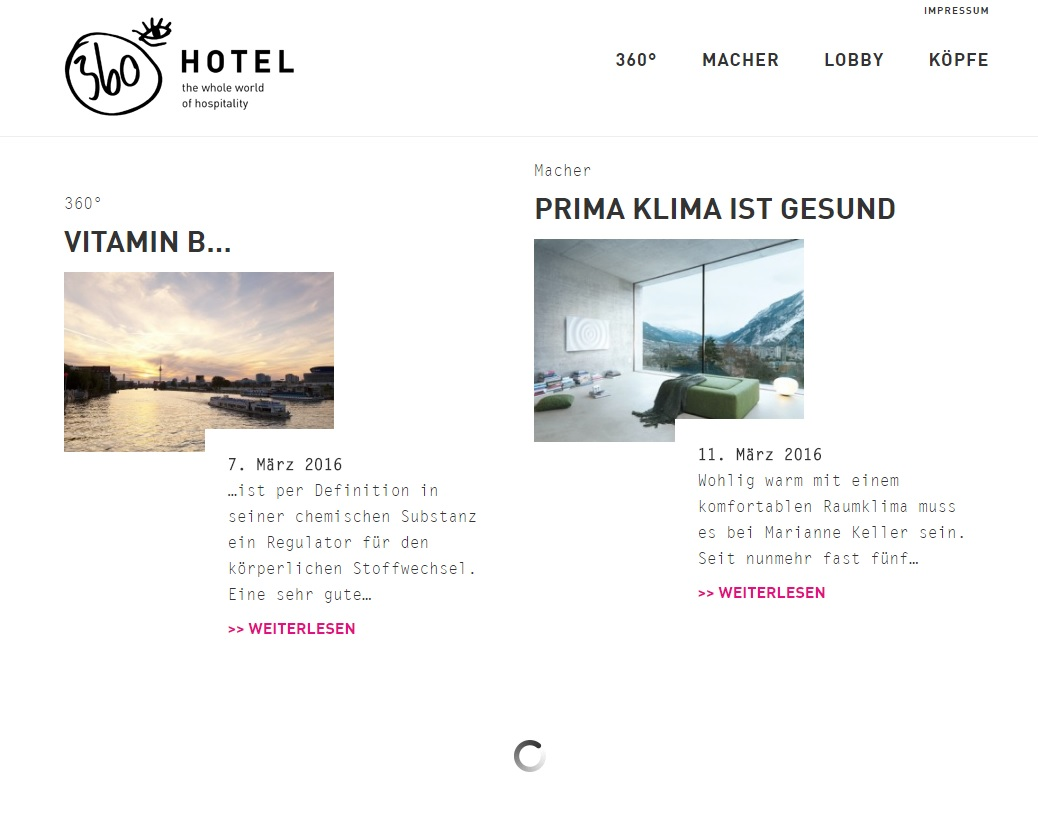 360 Hotel Gastronomie Filter Website Referenz XMouse
