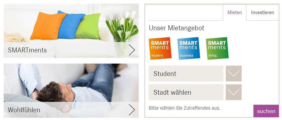 GBI SMARTments Appartementsuche Referenz XMouse