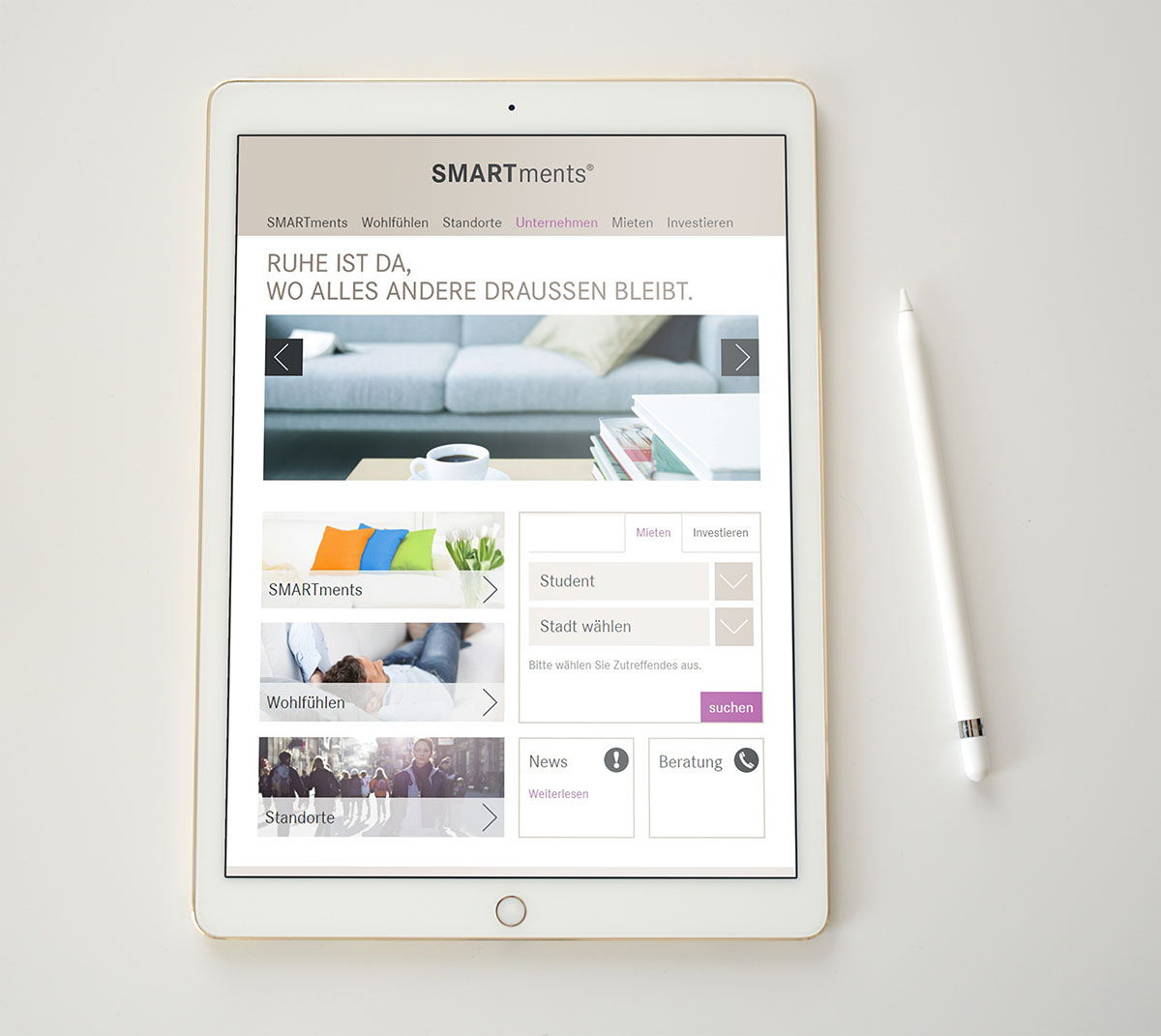 GBI SMARTments Immobilien Tablet Referenz XMouse