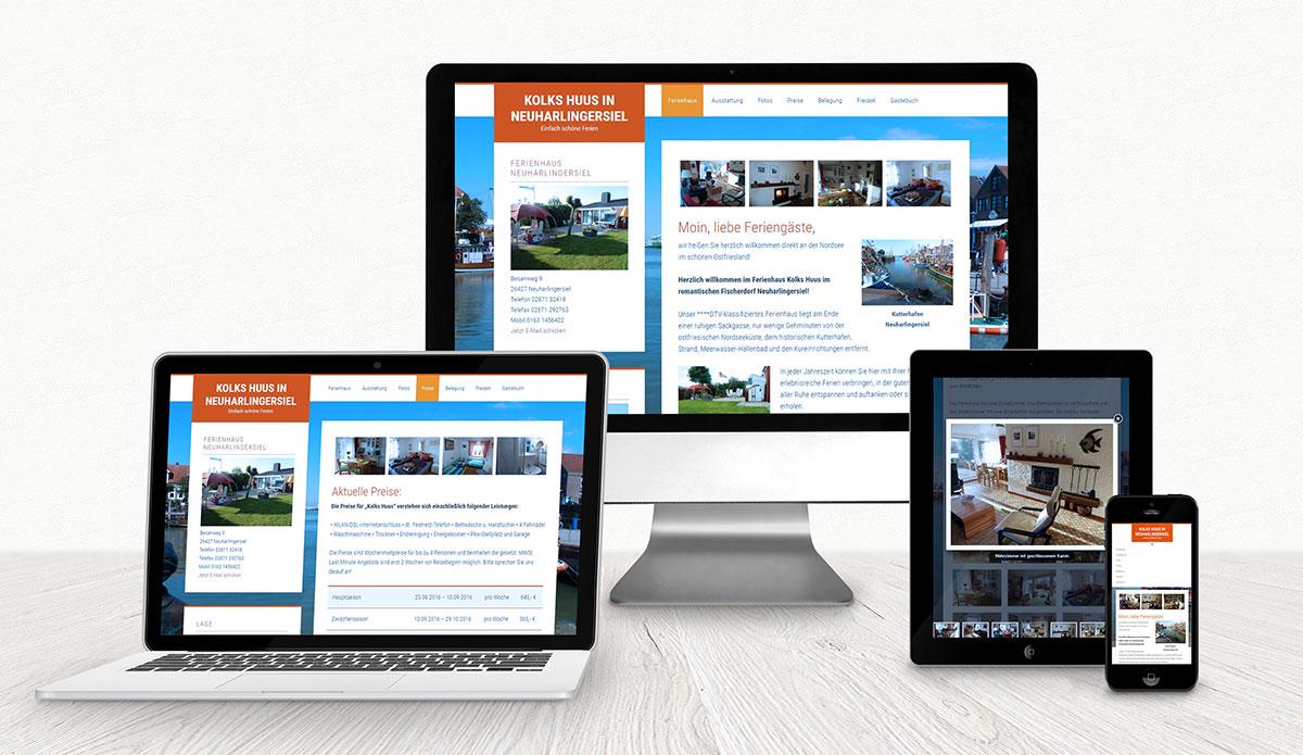 Ferienhaus Kolks Huus Website Referenz XMouse